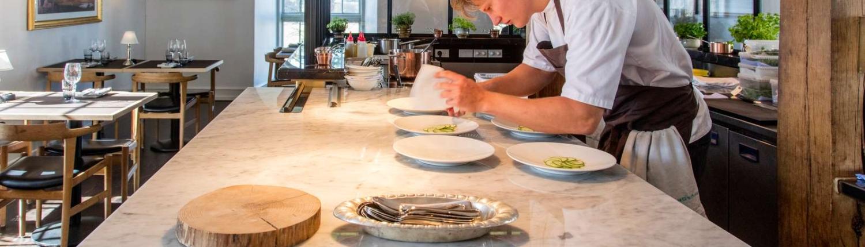 Billeder fra nyindrettet spisehus - forår 2019