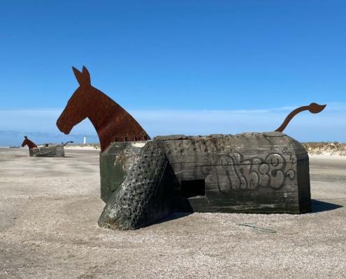 Muldyr bunkers, Blåvand strand, den jyske vestkyst