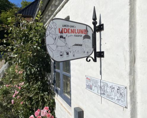 Skilt ved Lemvig museum