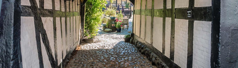 Bindingsværk, Djursland. Ebeltoft, Denmark